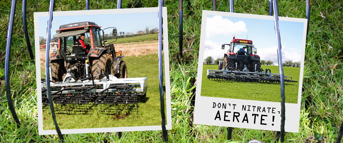AERATE FOR BETTER SOIL OXYGENATION AND GRASS GROWTH