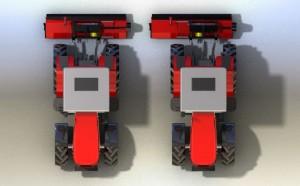 offset flail mower Shredder Sideshift