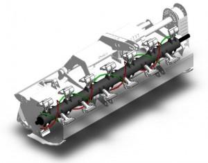 Shredder flail mower economy rotor