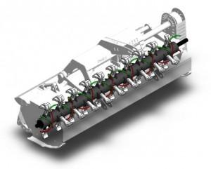 Shredder flail mower hypercut rotor