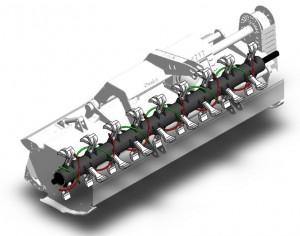 Shredder flail mower dynacut rotor