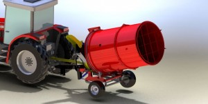 Bale shredder drum extension 1