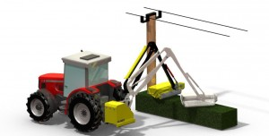 Safety breakaway to protect hedgecutter arm from damage