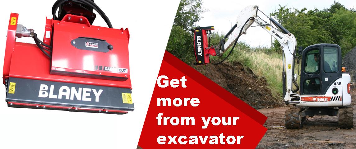 Excavator flail shredder mulcher head digger flail