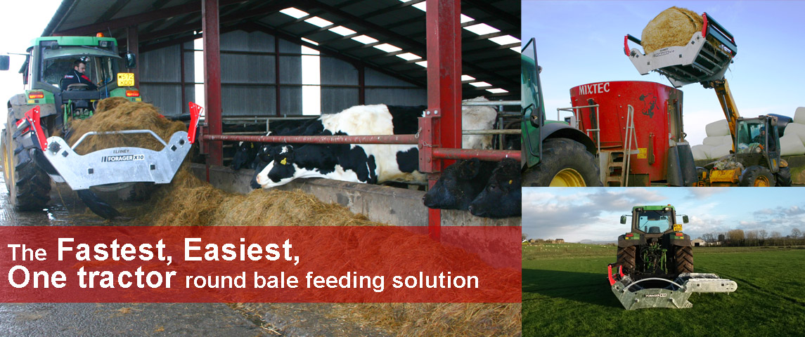 The fastest, easiest one tractor round bale feeding solution