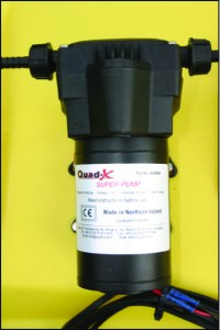 High capacity pump for weed sprayer